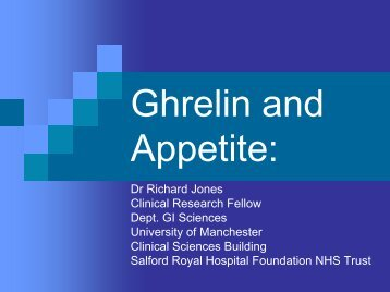 Ghrelin and Appetite: