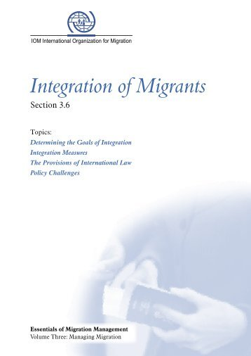 Integration of Migrants - Regional Conference on Migration Virtual ...