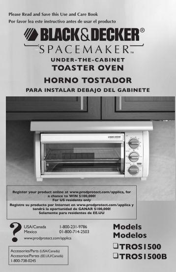 ToAsTER ovEN HoRNo TosTADoR Models Modelos TRos1500 ...