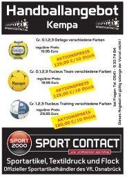 Handballangebot-Kempa - Sport Contact
