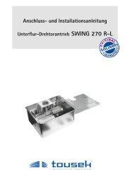 Montageanleitung SWING 270 - Nothnagel