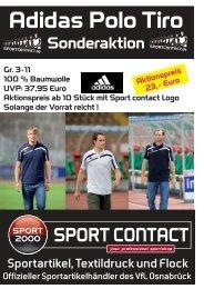 Adidas Poloshirt Tiro Sonderaktion - Sport Contact