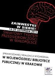w wojewódzkiej bibliotece publicznej w krakowie - Centrum ...