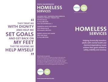 Homeless Services Brochure - People Incorporated