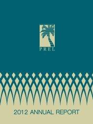 2012 ANNUAL REPORT - PREL