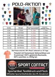 Poloshirt Sonderaktion - Sport Contact