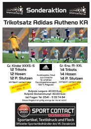 Angebot als PDF Datei, Trikotsatz Adidas Autheno - Sport Contact