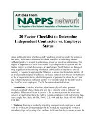 20 Factor Checklist to Determine Independent Contractor vs ...