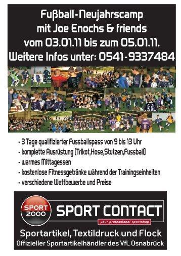 Anmeldung Fußball-Neujahrscamp mit Joe Enochs ... - Sport Contact