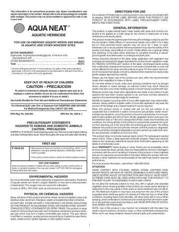 AQUA NEAT® - Crop Data Management Systems, Inc.