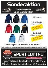 Kapuzenjacke Jako Competition - Sport Contact