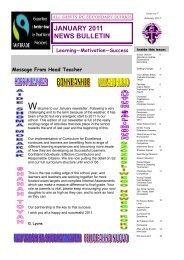JANUARY 2011 NEWS BULLETIN - All Saints Secondary School