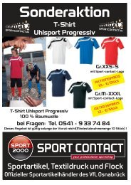 T-Shirt-Uhlsport-Sonderaktion - Sport Contact