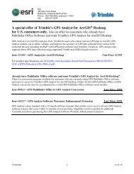 Trimble's GPS Analyst for ArcGIS Desktop - Esri