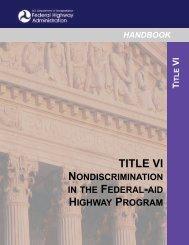 TITLE VI HANDBOOK - Department of Transportation