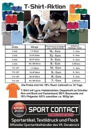 Angebot als PDF Datei, T-Shirt-Aktion - Sport Contact