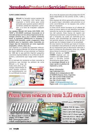 Novedades - Productos - Servicios - Empresas. - Revista Letreros
