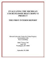 Evaluating the Michigan Court/Flossie Riley HOPE VI ... - COAS