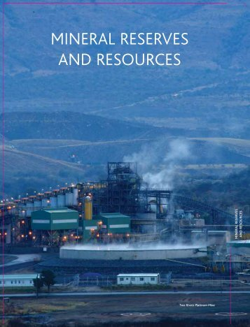 MINERAL RESERVES AND RESOURCES - ARM