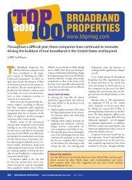 Broadband Properties Top 100 Companies for 2010