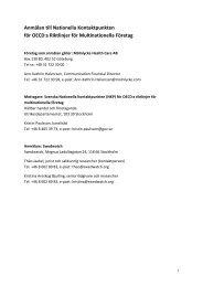 Anmälan till Nationella Kontaktpunkten för OECD:s ... - Swedwatch