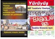 AKP Yasaklarla Yönetiyor