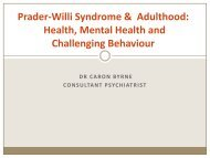 Health, Mental Health and Challenging Behaviour