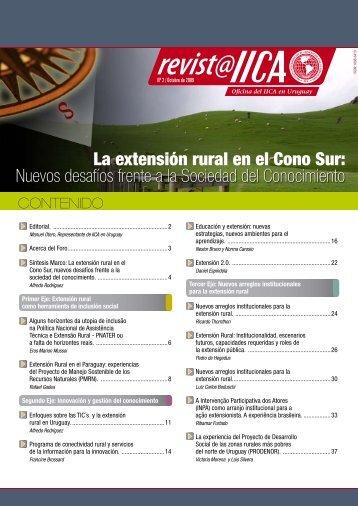 La extensión rural en el Cono Sur - Territorios Centroamericanos