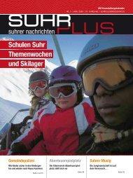 Schulen Suhr Themenwochen und Skilager