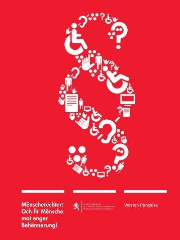 """brochure """"Facile à lire"""" - Ministère de la Famille et de l'Intégration"""