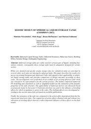 seismic design of spherical liquid storage tanks (compdyn 2011)