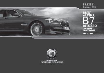 BITURBO BMW aLPINa BMW aLPINa BITURBO PREISE PREISE