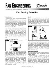 Fan Bearing Selection - Clarage