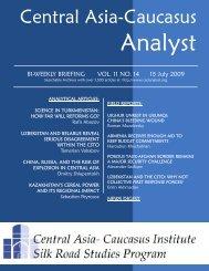 Roman Muzalevsky - The Central Asia-Caucasus Analyst