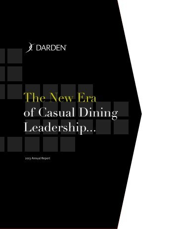 2013 Annual Report - Investor Relations - Darden Restaurants