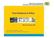 From Evidence to Policy - Evidence-based Public Health