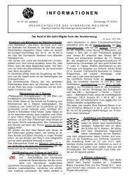Informationen - Gymnasium Weilheim