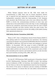 2 SETTING UP OF AERB - Atomic Energy Regulatory Board