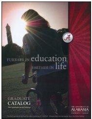 2007-09 - Graduate School - The University of Alabama