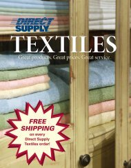 Direct Supply ® Textiles ™ Products