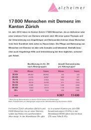 Kennzahlen: 17'800 Menschen mit Demenz im Kanton Zürich (PDF)