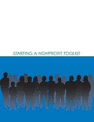 Starting a Nonprofit Tool Kit - Montana Nonprofit Association