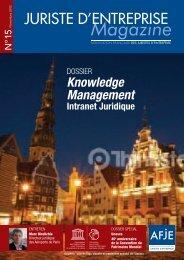 Knowledge Management Intranet Juridique - AFJE