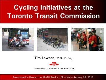 Presentation - Transportation Research At McGill (TRAM)
