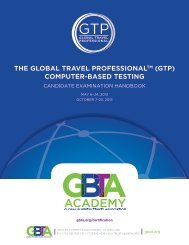 GTP Certification Handbook - The Global Business Travel Association