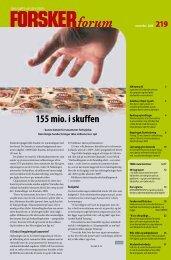 155 mio. i skuffen - FORSKERforum