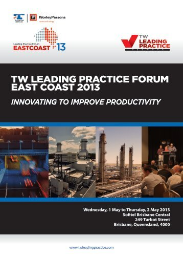TW Leading Practice Forum Program 2013_4.indd - Transfield Worley