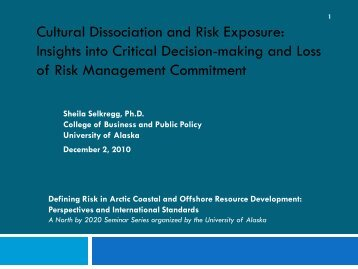 Critical Decision Making & Loss of Risk ... - IARC Research