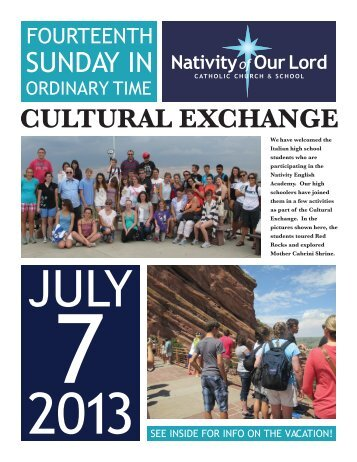 July 7, 2013 - Nativity of Our Lord Catholic Church