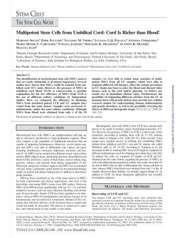 Multipotent Stem Cells from Umbilical Cord: Cord Is ... - ResearchGate